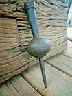 1800'C Antique Mughal Period Rare Fine Hand Engraved Iron Spear End Lance India
