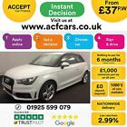 2014 WHITE AUDI A1 16 TDI 105 S LINE DIESEL MANUAL 3DR CAR FINANCE FR 37 PW