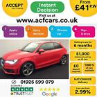 2012 RED AUDI A1 14 TFSI 185 BLACK EDITION S TRONIC 3DR CAR FINANCE FR 41 PW
