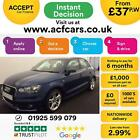 2013 BLUE AUDI A1 SPORTBACK 16 TDI 105 S LINE DIESEL 5DR CAR FINANCE FR 37 PW