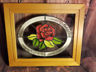 Painted Stained Glass Rose by Open Windows Salida Colorado