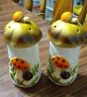 Sears Merry Mushrooms Salt and Pepper Shakers 1970s Vintage FREE SHIPPING