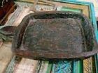Antique Primitive Wooden Kneading Chopping Trencher Dough Bowl Hand Carved 23