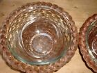 Vintage Anchor Hocking Mixing/Serving Bowls With Bowl Baskets