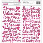 Pebbles Loves Me Collection Valentines Thickers Foam Word Stickers