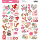 Pebbles Loves Me Collection Valentines Cardstock Stickers WIth Glitter