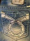 Big Star Vintage Collections Straight Liv Jean Crochet Lace Size 26 Regular