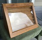 Vtg Locking Oak Countertop Display Case -Watch Gold Silver Coins Lead Soldiers +