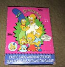 1990 TOPPS THE SIMPSONS WAX BOX 36 PACKS SEALED UNOPENED