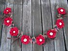 Prim Garland Swag Early Old Look Make Do Farmhouse USA Burlap Christmas American