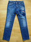 Dsquared Vintage Chip Chip Swallow Patch Low Waist Jeans 48