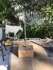 Antique circa-1900, JAMES, American Folk Art Cow Weathervane