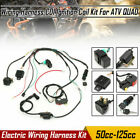 50cc 125cc CDI Wire Wiring Harness Kit Ignition Coil Rectifier For Quad ATV SU
