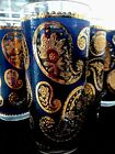 22kt GOLD PAISLEY 12oz Highball/Tumbler GLASSES
