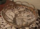 glass bowl, Gold trim, Cherries? pattern. great condition!