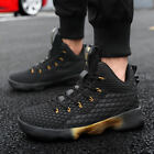 Mens Running Buckle Basketball Sports School Sneakers Fashion Lace Up Boot 38 45