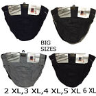 3 X Pairs BIG SIZES Men CLASSIC SPORT Hipsters Pure Cotton Briefs 2XL-6XL