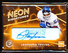 2018 PANINI ELEMENTS NEON SIGNATURES LAWRENCE TAYLOR AUTO 10 18