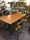 Danish Modern Table W. 4 Stow Chairs