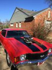 1972 Chevrolet Chevelle SS 1972 Chevrolet Chevelle SS red with black stripes and 671 blower