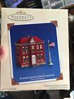Schoolhouse and Flagpole~#5 Town & Country Series~Tin~2003~Hallmark~