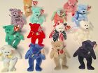 Beanie Babies Lot of 14 Ty Plush Erin Princess Cheery Peace Clubby Bears