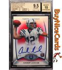 2012 Andrew Luck Topps Platinum Red Refractor on Card RC Rookie Auto 5 BGS 9.5