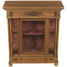 Antique French Renaissance Style Carved Oak Display Cabinet Cupboard Rustic
