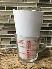 Vintage Unmarked Fire King Heat Proof Glass Measuring Cup D Handle