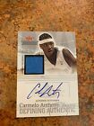 Carmelo Anthony 2004 Fleer Throwback Auto Game Used 50 RARE
