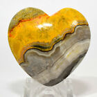 40mm Bumble Bee Jasper Heart Natural Multicolor Banded Crystal Stone Indonesia