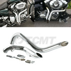 TCMT Chrome 1 3 4 Drag Pipes Exhaust For Harley Touring Sportster Dyna Softail