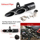 38-51mm Dual-outlet Tail Pipe Tip Engine Kit For Motorcycle ATV Exhaust System