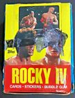1985 TOPPS ROCKY IV UNOPENED BOX OF WAX PACKS TRADING CARDS AND STICKERS