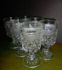7 Cocktail Goblets Water Glasses ANCHOR HOCKING WEXFORD Stemware 5