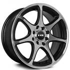 4pcs 15 NS Wheels Tunner NS1203 Black Machined Rims