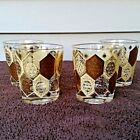 Vintage MCM Cera Ned Harris Pineapple Double Old Fashion Rocks Lowball Glasses