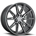 QTY4 20 Staggered Niche Wheels M220 Gemello Gloss Anthracite Machined FS