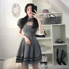 Sexy Women Pleated Dress Summer Japanese Sweet Hollow Out Heart Party Dress
