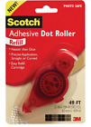 Scotch Adhesive Dot Roller Refills For Dispenser 031 in x 49 ft Photo Safe