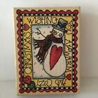 Rubber Stampede Christmas Wish Rubber Stamp Snowman Christmas 325 x 4 in Image
