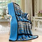 Navajo Print Turquoise Throw Blanket Sherpa Southwest Native American Indian