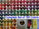 185 ANCHOR Pearl Cotton Crochet Embroidery Thread Balls Size 8 Solid Colors Set