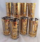 8 GLASSES GOLD  TUMBLERS MID CENTURY MODERN