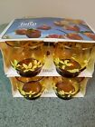 1970's Vintage Libbey, amber, rocks cocktail glasses, in original packaging!