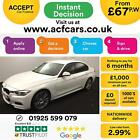 2016 WHITE BMW 320D 20 M SPORT DIESEL AUTO 4DR SALOON CAR FINANCE FR 67 PW