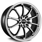 Set4 16 NS Wheels Tunner NS1403 Black Machined Face and Lip Rims