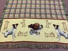 NEW throw blanket JACK RUSSELL TERRIER 100 cotton 50 X 60