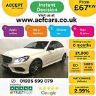 2015 WHITE MERCEDES E220 21 CDI AMG NIGHT EDITION SALOON CAR FINANCE FR 67 PW