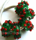 Wholesale Silver Lampwork Murano Glass Beads Fit European Charm Bracelet TF100